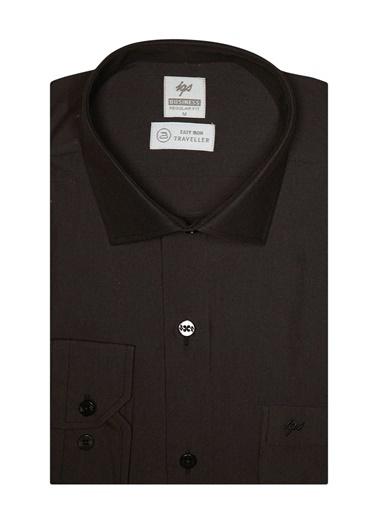 IGS Erkek Sıyah Regularfıt / Rahat Kalıp 7 Cm Klasık Gömlek Siyah